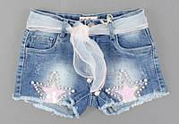 Джинсовые шорты для девочек S&D, 8-18 лет. {есть:18 лет,8 лет}