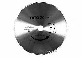 Диск пиляльний по ламінованих плитах, ламінату YATO: Ø=180x1.7x20 мм, 140 зубців, R.P.M до 9000 1/хв