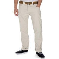 Мужские джинсы в бежевом цвете от Smith & Jones Eastwood Belted Chinos в размере W30 L34