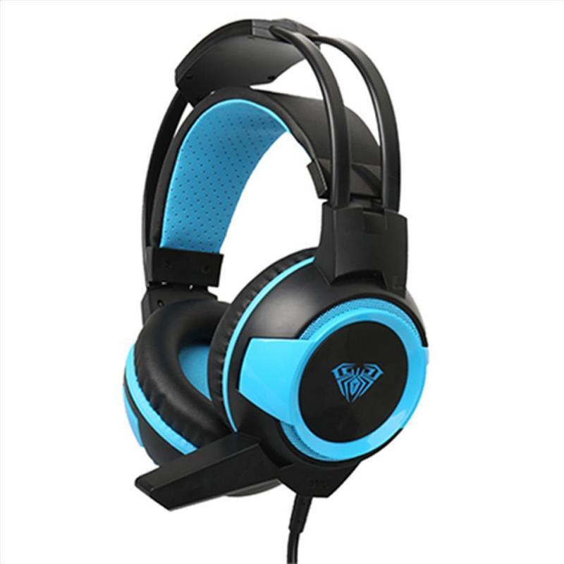 Гарнитура Aula Shax Black-Blue (6948391232447)