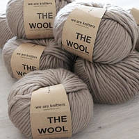 Толстая перуанская пряжа The Wool (200 грамм/ 80 метров) - We Are Knitters™ - цвет Серо-коричневый