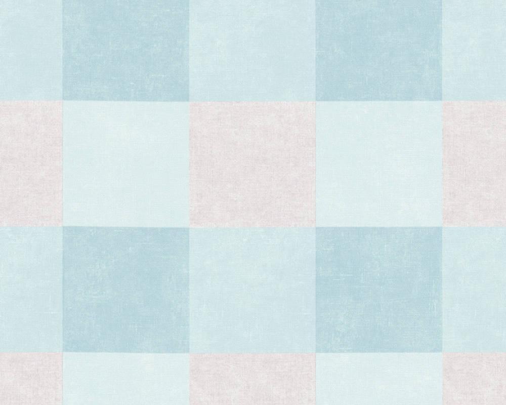 Обои с крупной голубой шотландской клеткой 367153