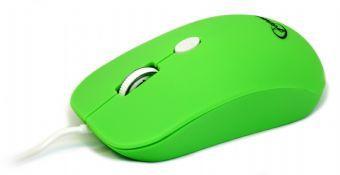Мышь Gembird MUS-102-G зеленая USB Holeless
