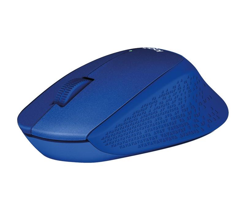 Мышь беспроводная Logitech M330 Silent Plus (910-004910) Blue USB