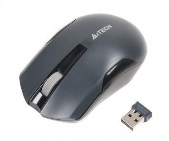 Мышь беспроводная A4Tech G3-200N Grey USB V-Track