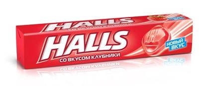 Льодяники Halls Холлс полуниця 33.5 м х 20 шт в упаковці