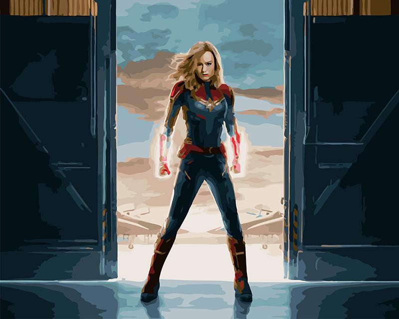 Картина по номерам Капитан Марвел, 40x50 см., Brushme