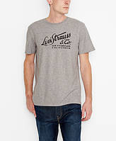 Футболка Levi's® Script Tee Grey Heather, фото 1