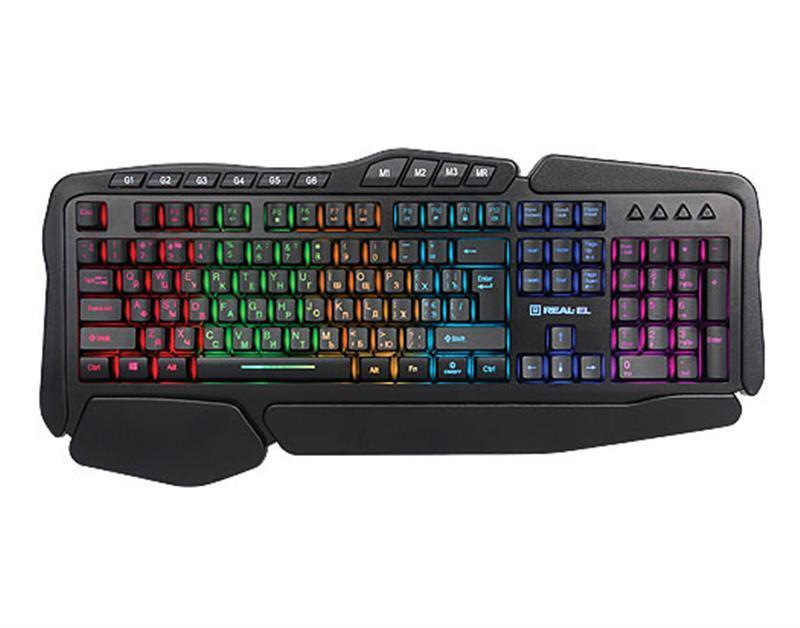 Клавиатура REAL-EL Gaming 8900 RGB Macro Black USB UAH