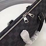 Мужская сумка натуральная кожа Damier Graphite, фото 8