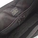 Мужская сумка натуральная кожа Damier Graphite, фото 5