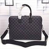 Мужская сумка натуральная кожа Damier Graphite, фото 2