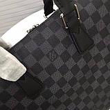 Мужская сумка натуральная кожа Damier Graphite, фото 9