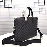 Мужская сумка натуральная кожа Damier Graphite, фото 10