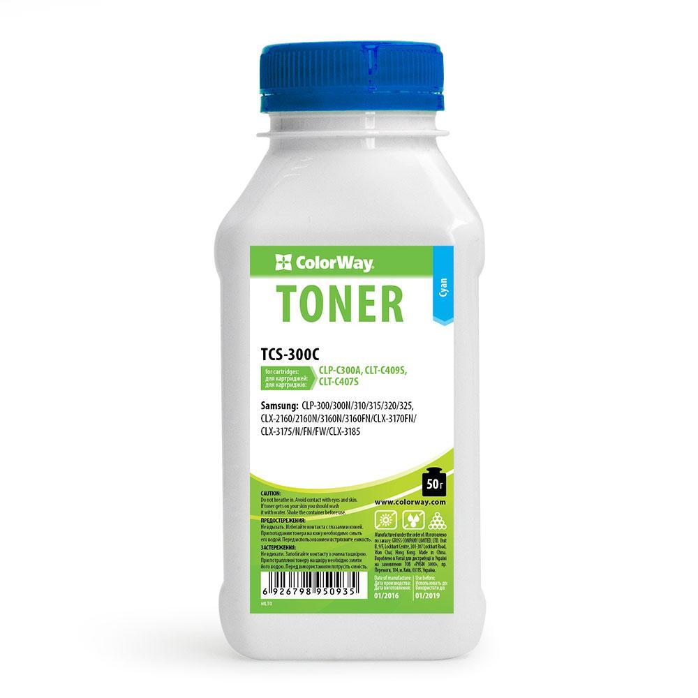 Тонер CW (TCS-300C) Samsung CLP-300/310/320/325 Cyan, 50г