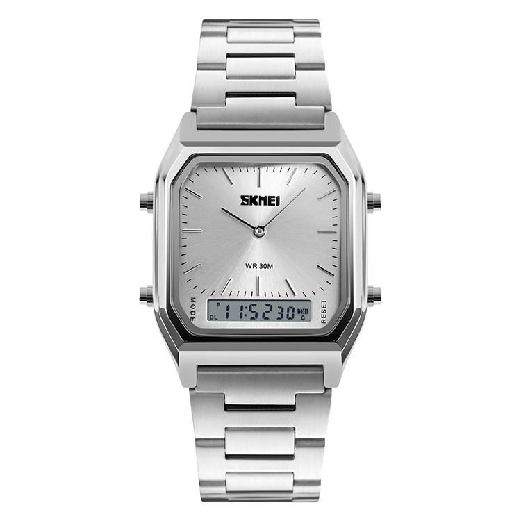 Skmei 1220 tango серебристые с серебристым циферблатом мужские часы