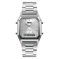 Skmei 1220 tango серебристые с серебристым циферблатом мужские часы, фото 1