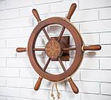 Штурвал на стену с компасом и поворотным механизмом 60 см, фото 2