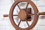 Штурвал на стену с компасом и поворотным механизмом 60 см, фото 6