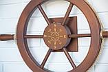 Штурвал на стену с компасом и поворотным механизмом 60 см, фото 7