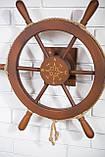 Штурвал на стену с компасом и поворотным механизмом 60 см, фото 8