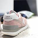 Женские кроссовки New Balance 574 розовые, фото 8