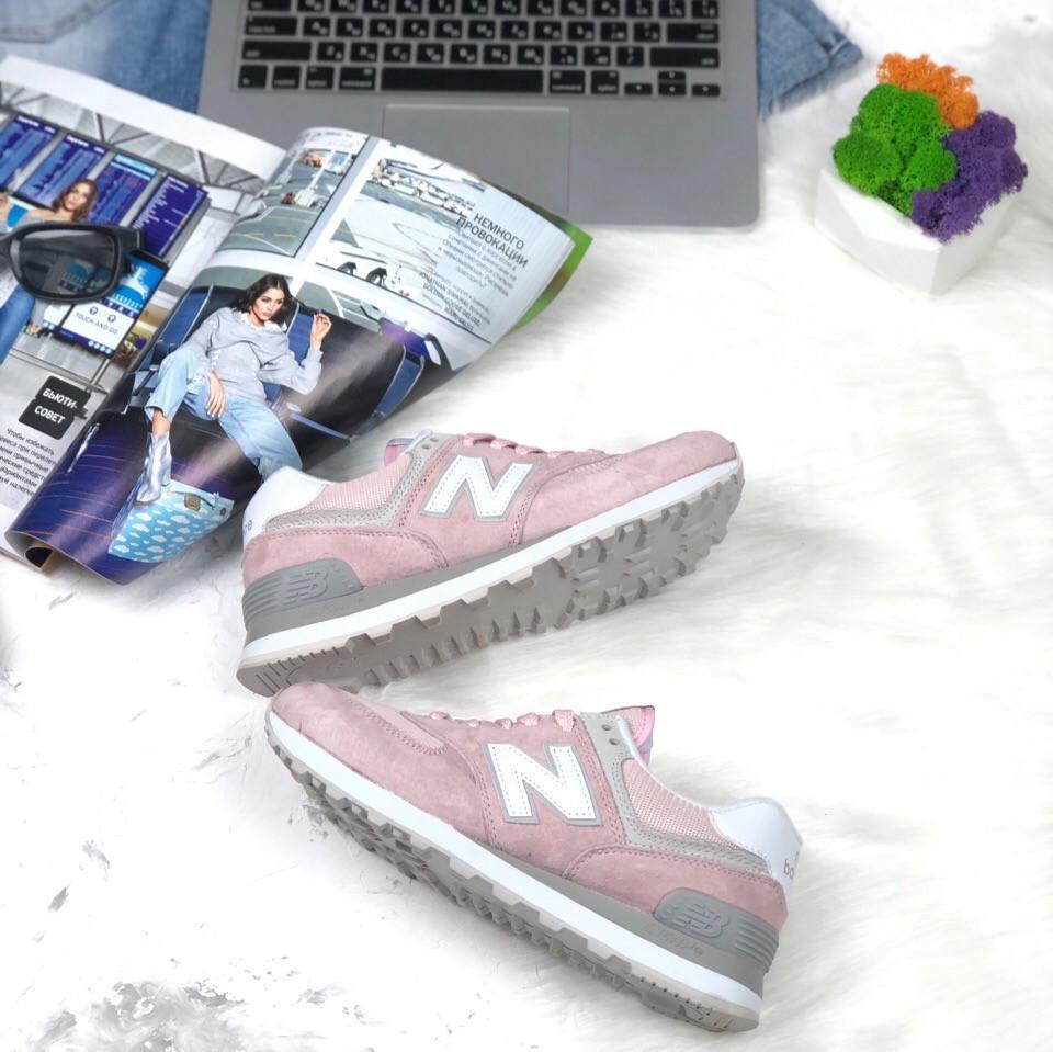 Женские кроссовки New Balance 574 розовые