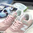 Женские кроссовки New Balance 574 розовые, фото 7