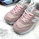 Женские кроссовки New Balance 574 розовые, фото 6