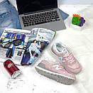 Женские кроссовки New Balance 574 розовые, фото 2