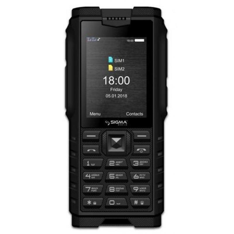 Sigma mobile X-treme DZ68 Dual Sim Black (4827798466315)