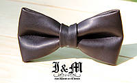 Кожаная галстук-бабочка 9908B Brown