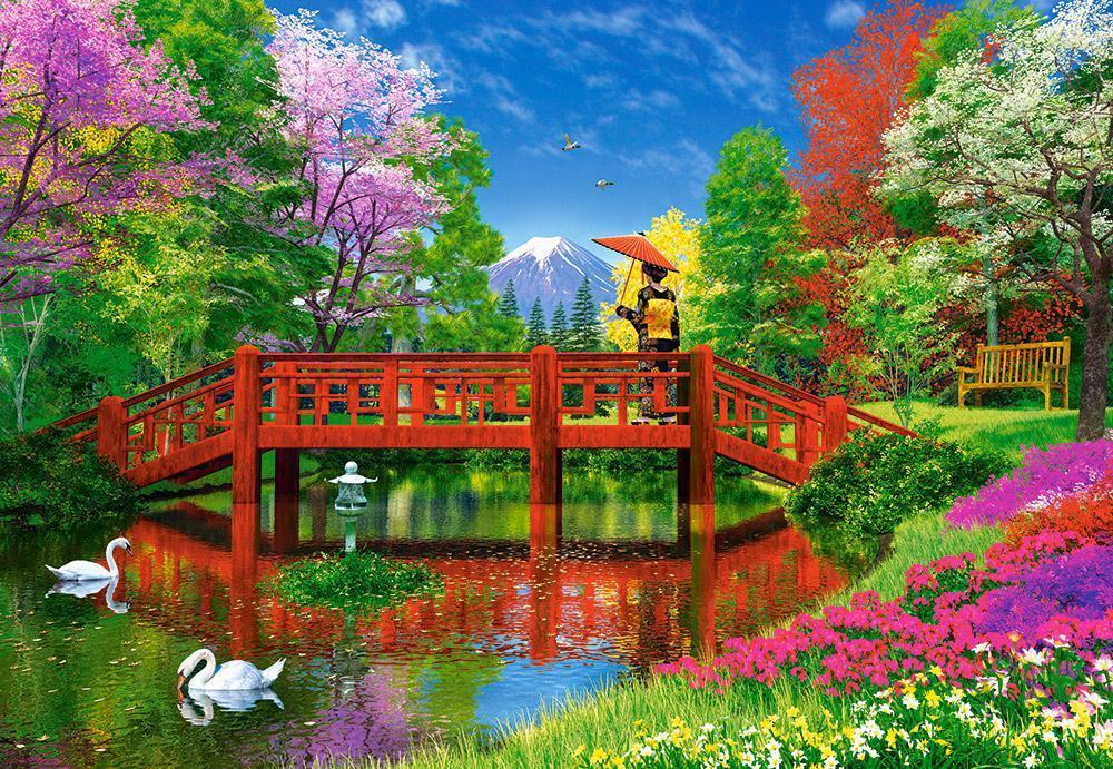 Пазлы Озеро Фудзи 1500 элементов