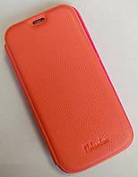 Чехол-книжка для Samsung Galaxy S4 mini, i9190, Натуральная кожа, Pielcedan, Розовый /flip case/флип кейс, фото 1