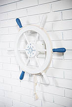 Штурвал на стену с компасом и поворотным механизмом 60 см