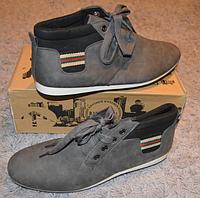 Кеды кроссовки Bikkemen мужские серые, фото 1