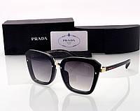 Женские солнцезащитные очки в стиле PRADA (0057) black