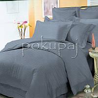 Комплект постельного белья Krispol страйп сатин люкс 200*220 евро стандарт 543916 с