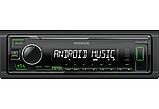 Автомагнитола Kenwood KMM-105GY Зеленая подсветка поддержка USB флешки с mp3 и  FLAC New 2019 год, фото 4