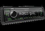 Автомагнитола Kenwood KMM-105GY Зеленая подсветка поддержка USB флешки с mp3 и  FLAC New 2019 год, фото 5