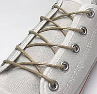 Шнурки с пропиткой круглые бежевые 60 см, фото 1