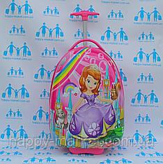 Детские розовые чемоданы ручная кладь для девочки стандарт  Josepf Ottenn Принцесса София 16-1711-SF