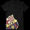 Футболка с печатью принта Barcelona