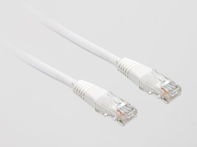 """Патч-корд UTP Cablexpert (PP12-0.25M-W) литой, 50u """"штекер с защелкой, 0.25 м, белый"""