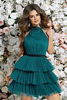 Молодежное платье из сетки с пышной юбкой