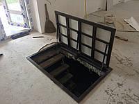 Напольный люк под плитку 600*500 мм Universal-ЕКОНОМ / люк в погреб/ люк в подвал