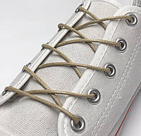 Шнурки с пропиткой круглые бежевые 120 см