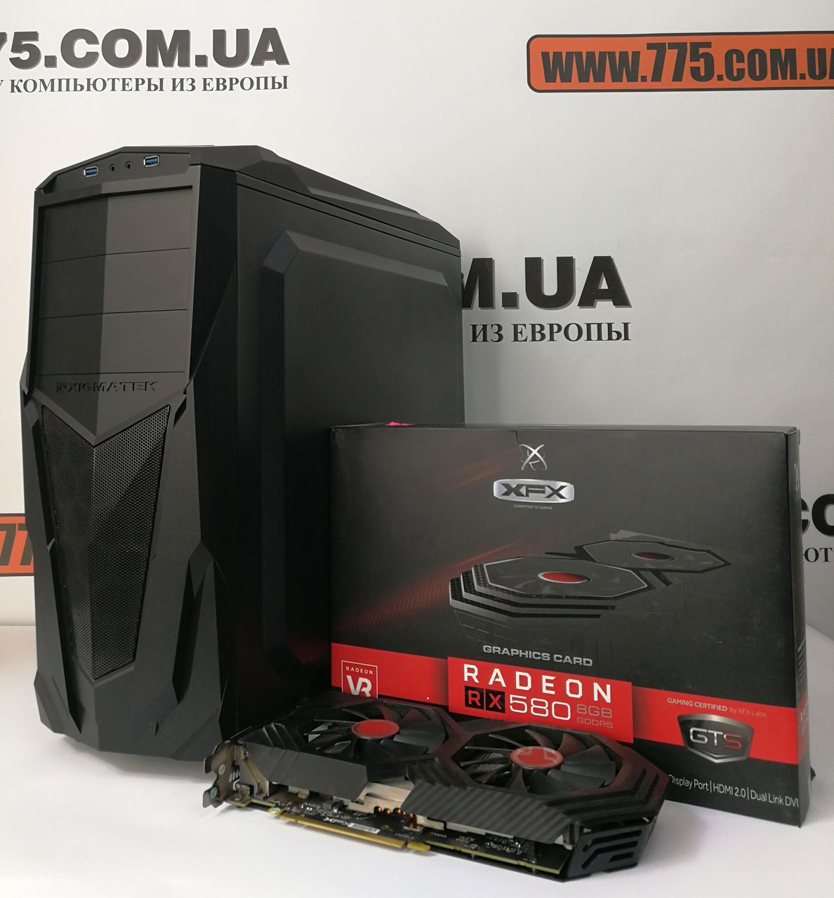 Игровой компьютер, Intel Core i5-4590 3.7GHz, RAM 8ГБ, SSD 120ГБ + HDD 500ГБ, RX 580 8ГБ, гарантия 6 мес!