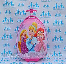Чемоданы овальные дорожные детские качество Люкс ручная кладь Josepf Ottenn Princess  розовые 16JDX-29-1