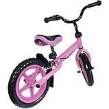 Беговел Kindereo с тормозом колеса 12 пена розовый, фото 3